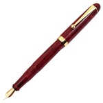 Onishi Seisakusho Handmade Cellulose Acetate Fountain Pen - Red Marble