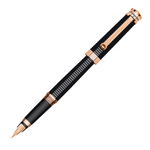 Montegrappa NeuroUno Linea Black Rose Gold Trim Fountain Pen