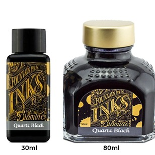 Diamine Ink Bottle (30ml / 80ml) - Quartz Black