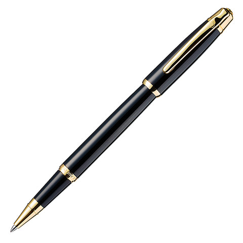 Alain Delon Deco Black Gold Trim Rollerball Pen