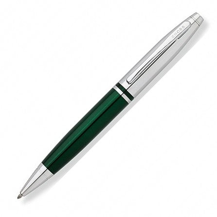 Cross AT0112-7 Calais Two-Tone Green Chrome Ballpoint Pen - KSGILLS.com | Online Penshop Malaysia