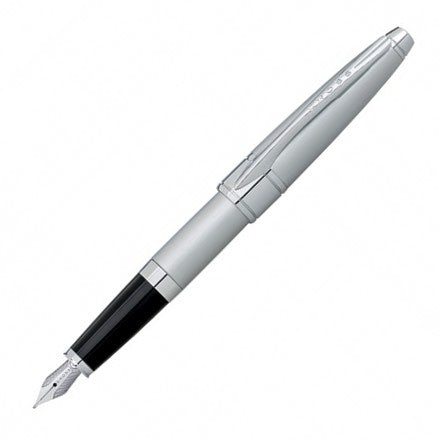 Cross Apogee Brushed Chrome Fine Point AT0126-18MS Fountain Pen - KSGILLS.com | Online Penshop Malaysia