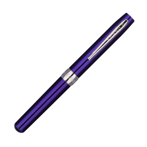 Fisher Space Blueberry Plated Executive Style With Comfort Grip Ballpoint Pen (X-750/B)