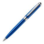 Alain Delon Mentor Ballpoint Pen - Blue Chrome Trim