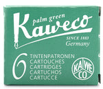 Kaweco Ink Cartridges Palm Green Pack of 6
