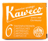 Kaweco Ink Cartridges Sunrise Orange Pack of 6