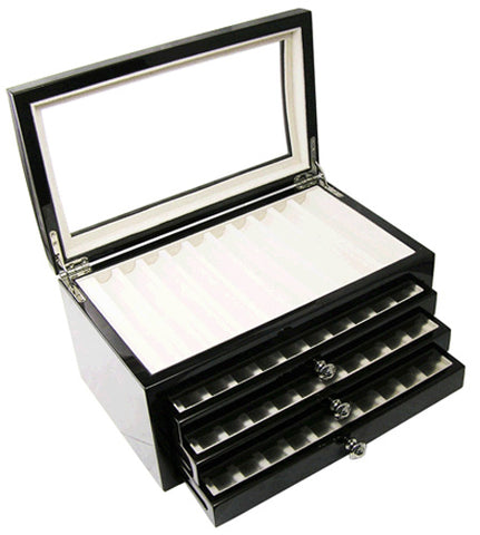 Laban Forty (40) Pens Wooden Pen Chest With Open Top : RM1092.00 - KSGILLS.com | Online Penshop Malaysia