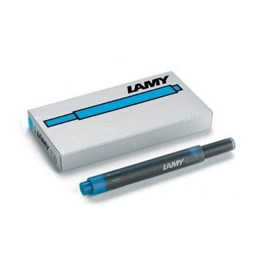Lamy T10 Ink Cartridges Turquoise  - Pack of 5 - KSGILLS.com | Online Penshop Malaysia