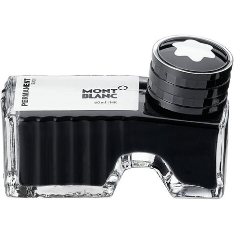 Montblanc Bottled Ink 60ml Permanent Black Ident. No : 107755 (Enquire) - KSGILLS.com | Online Penshop Malaysia