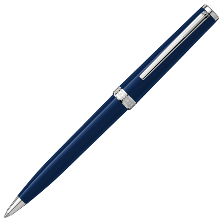 Montblanc Pix Ballpoint Pen - Navy Blue Chrome Trim