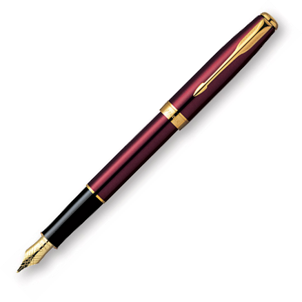 Parker Sonnet Ruby Red Lacquer GT 18k Nib Fountain Pen
