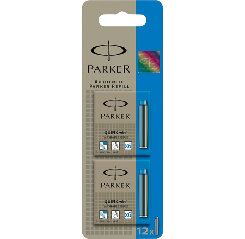 Parker Mini Blue Ink Cartridges 2 Packs Of 6 - KSGILLS.com | Online Penshop Malaysia