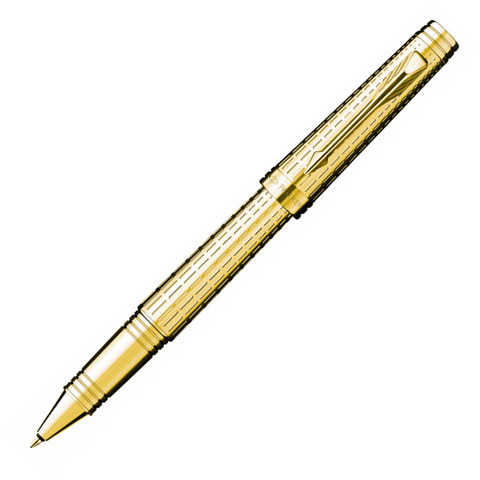 Parker Premier Deluxe Chiselled Gold GT Rollerball Pen - KSGILLS.com | Online Penshop Malaysia