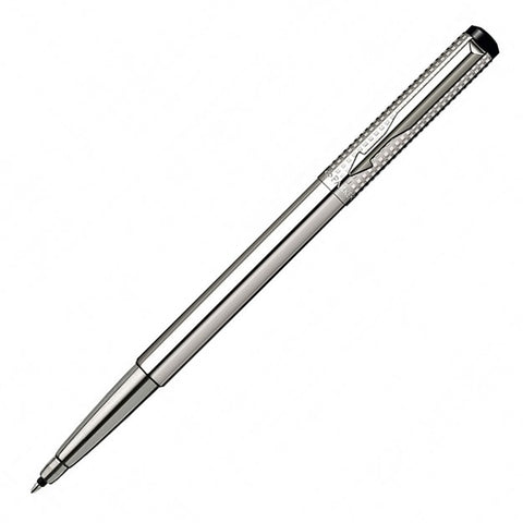 Parker Vector Shiny Chiselled Stainless Steel Rollerball Pen