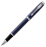 Parker IM Fountain Pen - Matte Blue Chrome Trim - Medium (M)