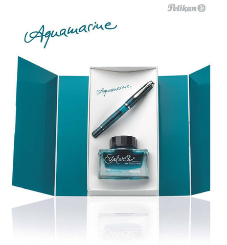 Pelikan M205 Aquamarine Fountain Pen with Ink Set - KSGILLS.com | Online Penshop Malaysia