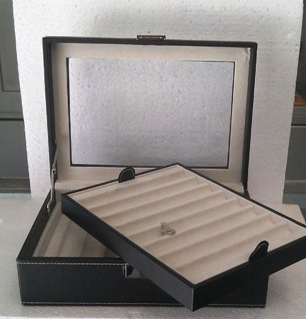 Pen Tray PU Leather With Open Top Double Sixteen (16) Pens : RM339.00