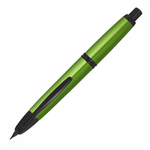 Pilot Capless Trend Metallic Black Matte Trim Fountain Pen Green - Medium Nib - KSGILLS.com | Online Penshop Malaysia