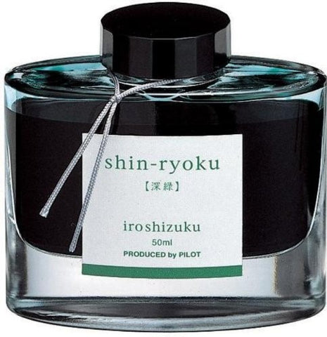 Pilot Iroshizuku Fountain Pen 50ml Bottle Ink - Shin-Ryoku