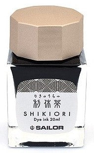 Sailor Shikiori Rikyucha Ink (Tea Green Brown) - Izayoi-No-Yume - 20 ml Bottle