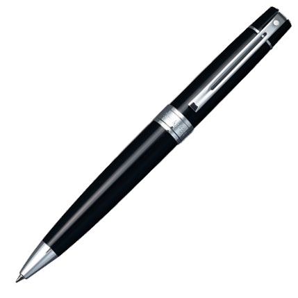Sheaffer 9312 Collection 300 Glossy Black Chrome Trim Ballpoint Pen - KSGILLS.com | Online Penshop Malaysia