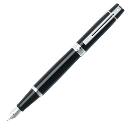Sheaffer 9312 Collection 300 Glossy Black Chrome Trim Fountain Pen - KSGILLS.com | Online Penshop Malaysia