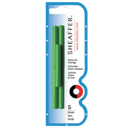 Sheaffer Ink Cartridges Pack of 5 - Green