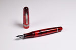 Stipula Etruria Rainbow Red Limited Edition Fountain Pen With T Flex Nib