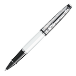 Waterman Expert III Rollerball Pen - Deluxe White Chrome Trim