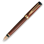 Waterman Liaison Ebonite Orange Gold Trim Fountain Pen
