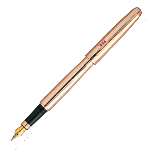 Alain Delon Monarch Rose Gold Plate Fountain Pen - KSGILLS.com | Online Penshop Malaysia