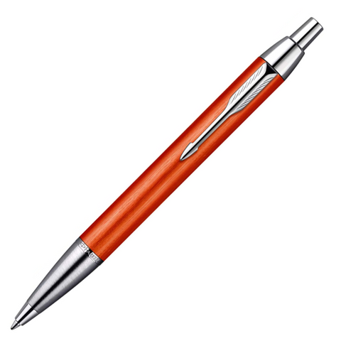 Parker IM Premium Big Red Chrome Trim Ballpoint Pen