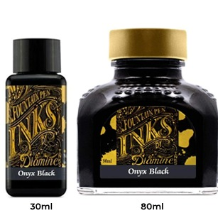 Diamine Ink Bottle (30ml / 80ml) - Onyx Black