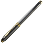 Cross Townsend Titanium Grey Gold Trim 14K Fountain Pen