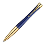 Parker Urban Premium Ballpoint Pen - Penman Blue Gold Trim - Refill Black Medium (M)