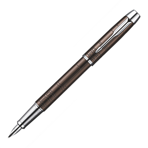 Parker IM Premium Metallic Brown Chrome Trim Fountain Pen