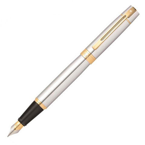 Sheaffer 300 Brushed Chrome Trim Fountain Pen