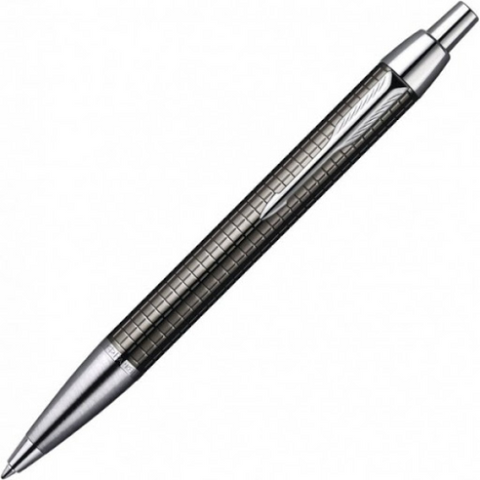 Parker IM Premium Deep Gun Metal Chrome Trim Ballpoint Pen