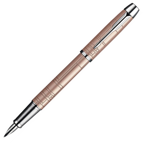 Parker IM Premium Metallic Pink Pearl Chrome Trim Fountain Pen