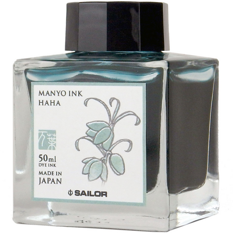 Sailor Ink Bottle 50ml Manyo Fountain Pen - Haha (Glacier Blue)