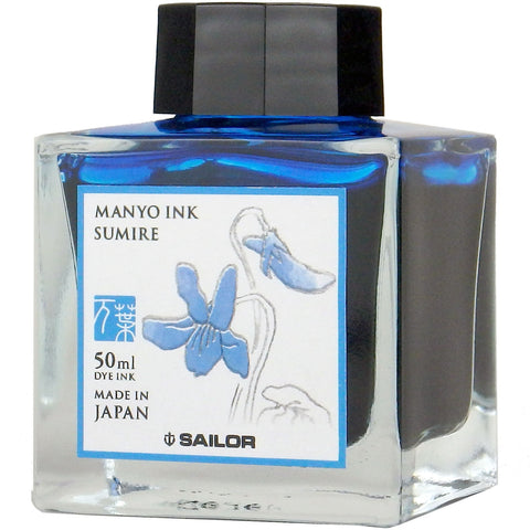 Sailor Ink Bottle 50ml Manyo Fountain Pen - Sumire (Navy Blue)