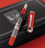Pelikan M910 Toledo Red Silver Fountain Pen