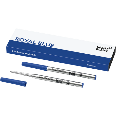 Montblanc Refill Ballpoint Royal Blue (2 Per Pack) - Medium (M)