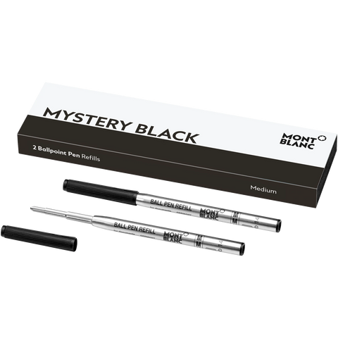 Montblanc Refill Ballpoint Pen (Pack of 2) Mystery Black - Medium (M)