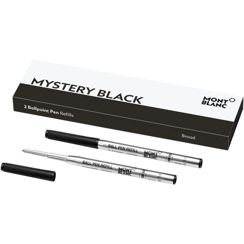 Montblanc Refill Ballpoint Pen (Pack of 2) Mystery Black - Broad (B)