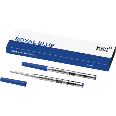 Montblanc Refill Ballpoint Pen (2 Per Pack) Royal Blue - Broad (B)