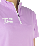 T2 Diamond Ladies' Lilac & White Front Zipper Jersey