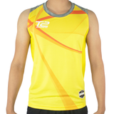 T2 Diamond Men's Yellow Sleeveless Jersey