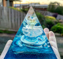 Ocean inspired mini resin pyramid