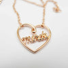 Heart Necklace Rose Gold